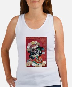 Mexican Skeletons - Mother with Daughter Tank Top