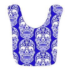 Sugar Skull Midngiht Blue Bib