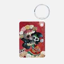 Mexican Skeletons - Mother with Daughter Keychains