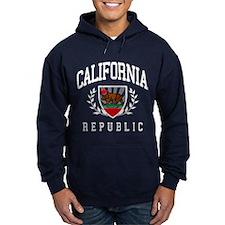 California Flag Crest (distressed design) Hoodie