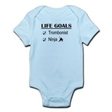 Trombonist Ninja Life Goals Infant Bodysuit