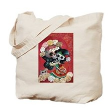 Mexican Skeletons - Mother with Daughter Tote Bag