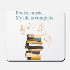Books and music Mousepad