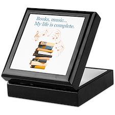 Books and music Keepsake Box