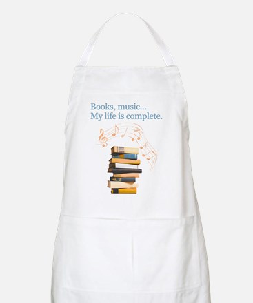 Books and music Apron