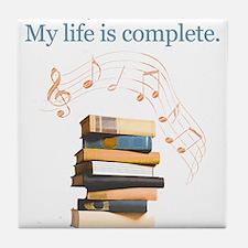 Books and music Tile Coaster