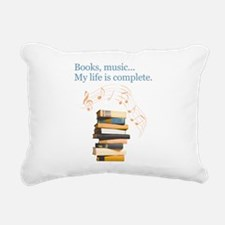 Books and music Rectangular Canvas Pillow