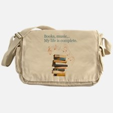 Books and music Messenger Bag