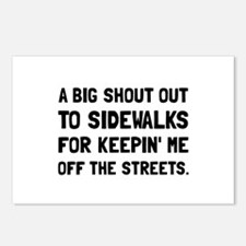 Shout Out Sidewalks Postcards (Package of 8)