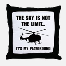 Sky Playground Helicopter Throw Pillow