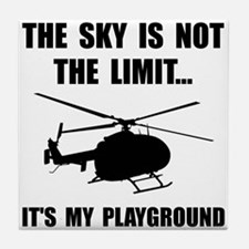 Sky Playground Helicopter Tile Coaster