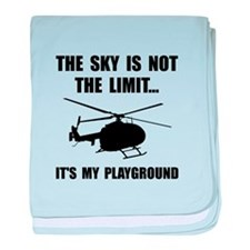 Sky Playground Helicopter baby blanket