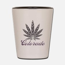 Colorado Dark Leaf Shot Glass