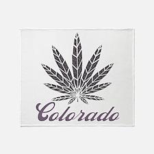 Colorado Dark Leaf Throw Blanket