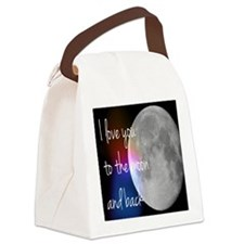 I love you to the moon and back Canvas Lunch Bag