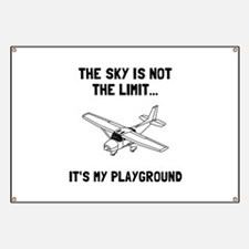 Sky Playground Plane Banner