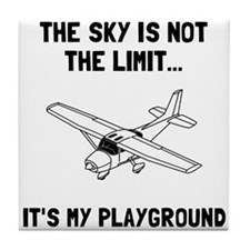 Sky Playground Plane Tile Coaster