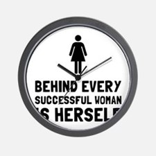 Successful Woman Wall Clock