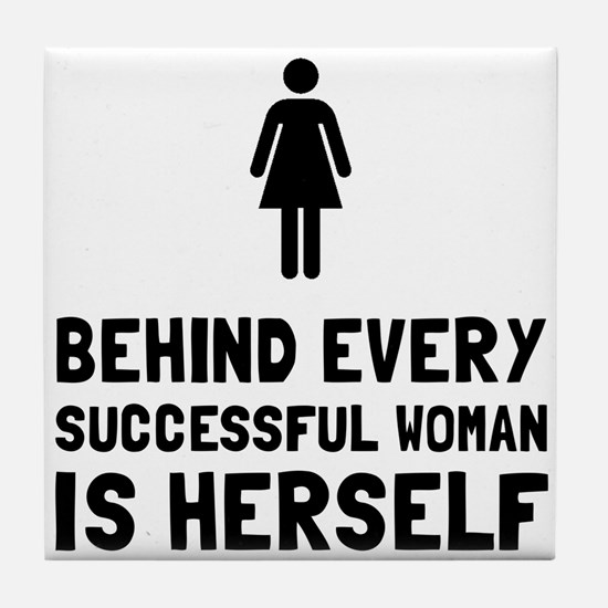 Successful Woman Tile Coaster