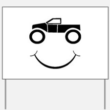 Truck Smile Yard Sign