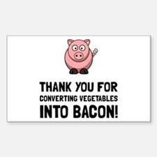 Vegetables Bacon Decal