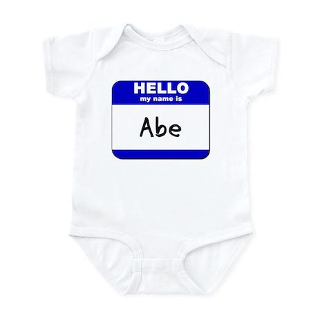 hello my name is abe Infant Bodysuit
