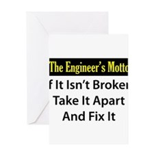 Engineer's Motto Greeting Cards