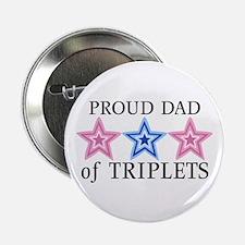 Dad of Triplets (Girls, Boy) Stars Button