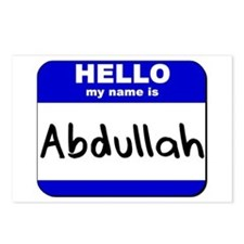 hello my name is abdullah  Postcards (Package of 8