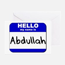 hello my name is abdullah  Greeting Cards (Package