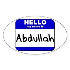 hello my name is abdullah Oval Decal