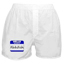 hello my name is abdullah  Boxer Shorts