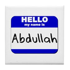 hello my name is abdullah  Tile Coaster