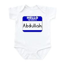 hello my name is abdullah  Infant Bodysuit