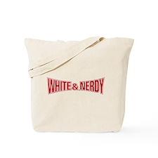 White & Nerdy Tote Bag
