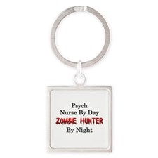 Psych Nurse/Zombie Hunter Square Keychain
