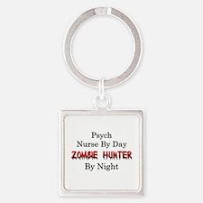 Psych Nurse/Zombie Hunter Square Keychain