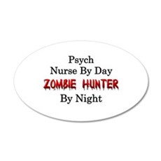 Psych Nurse/Zombie Hunter Wall Decal