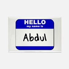 hello my name is abdul Rectangle Magnet