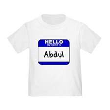 hello my name is abdul T
