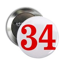 """RED #34 2.25"""" Button"""
