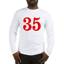 RED #35 Long Sleeve T-Shirt