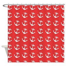 Nautical Anchors Shower Curtain