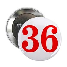 """RED #36 2.25"""" Button"""