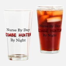 Nurse/Zombie Hunter Drinking Glass