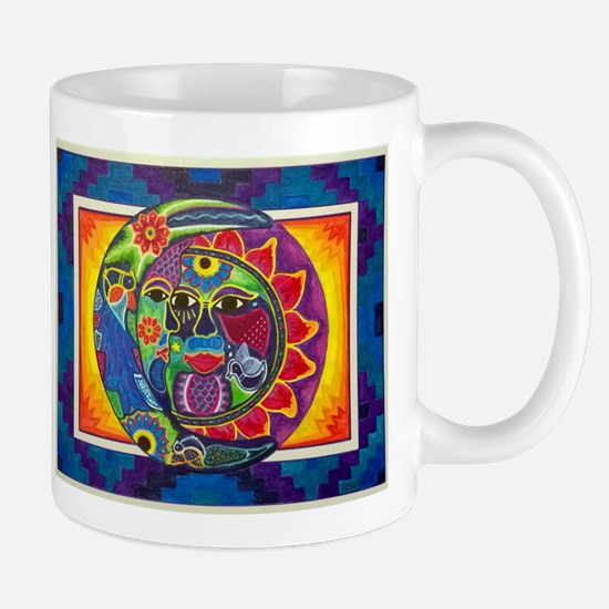 Aztec Sun and Moon Mugs