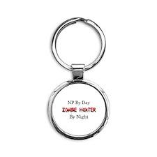 NP/Zombie Hunter Round Keychain