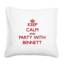 Keep calm and Party with Bennett Square Canvas Pil