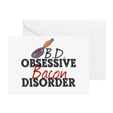 Funny Bacon Greeting Card