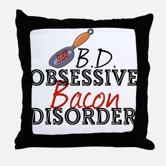 Funny Bacon Throw Pillow